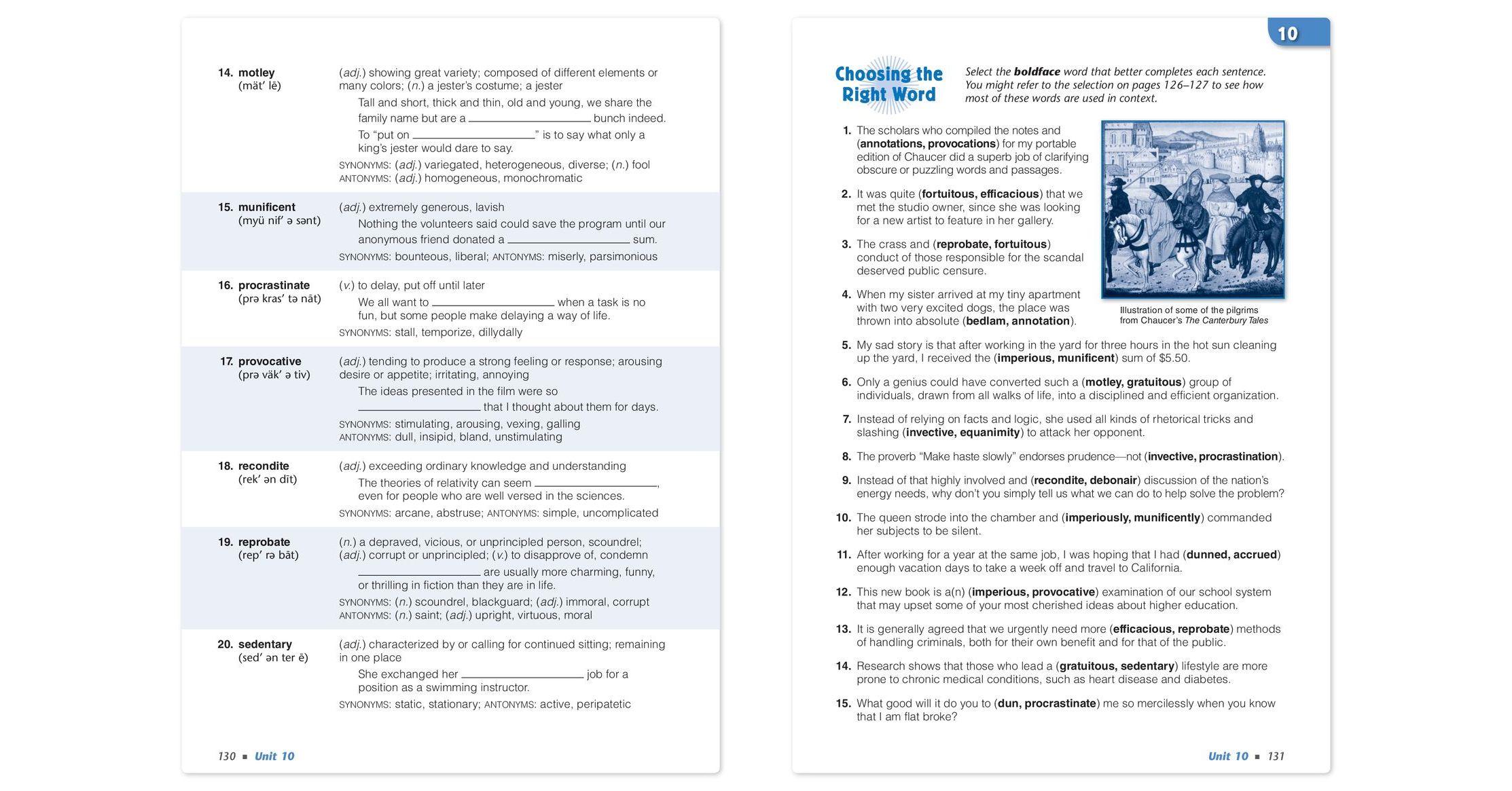 Vocabulary Workshop Enriched Edition, Level F (Grade 11), Student