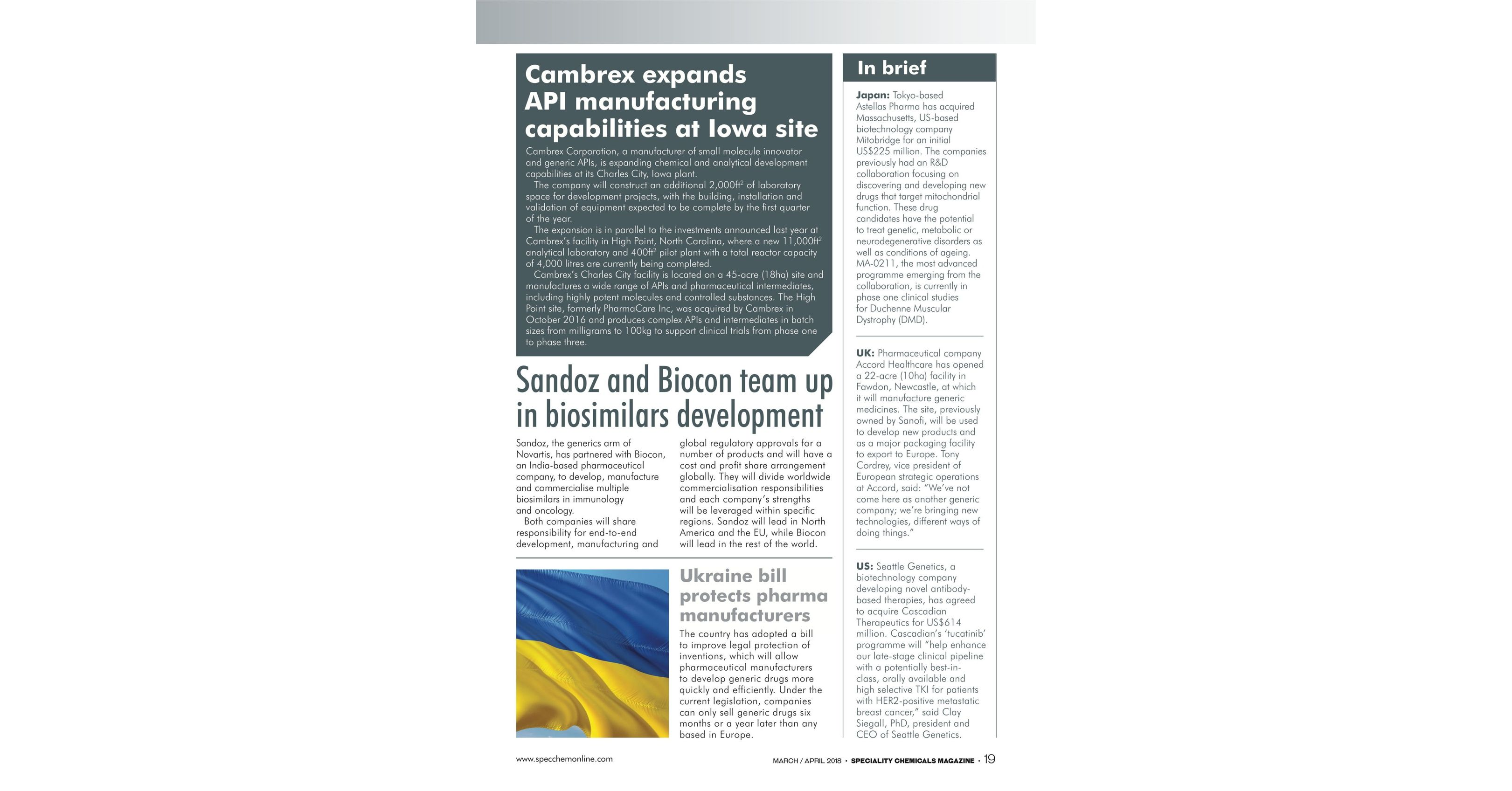 Speciality Chemicals March-April 2018