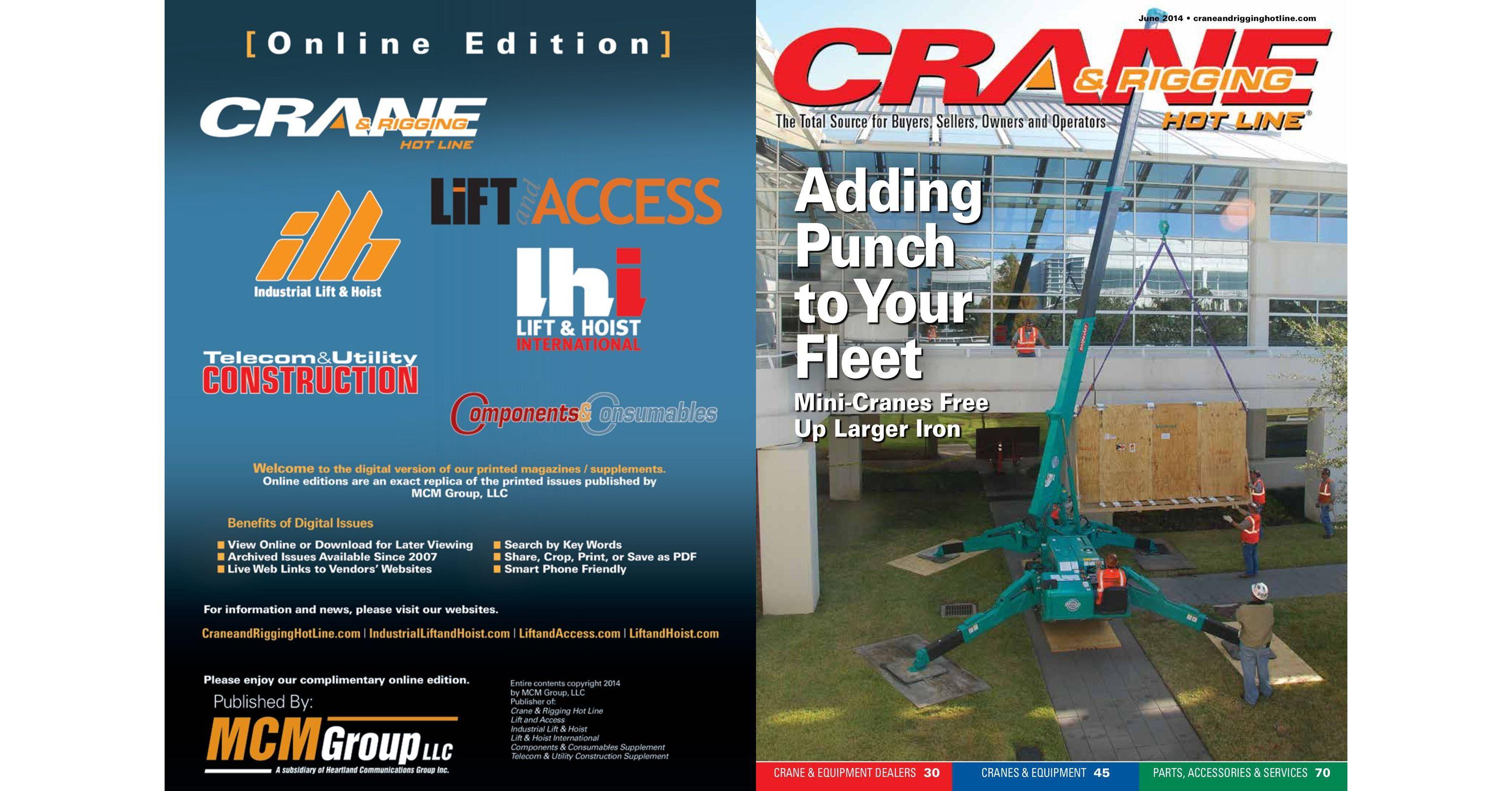 Crane and Rigging Hot Line June 2014