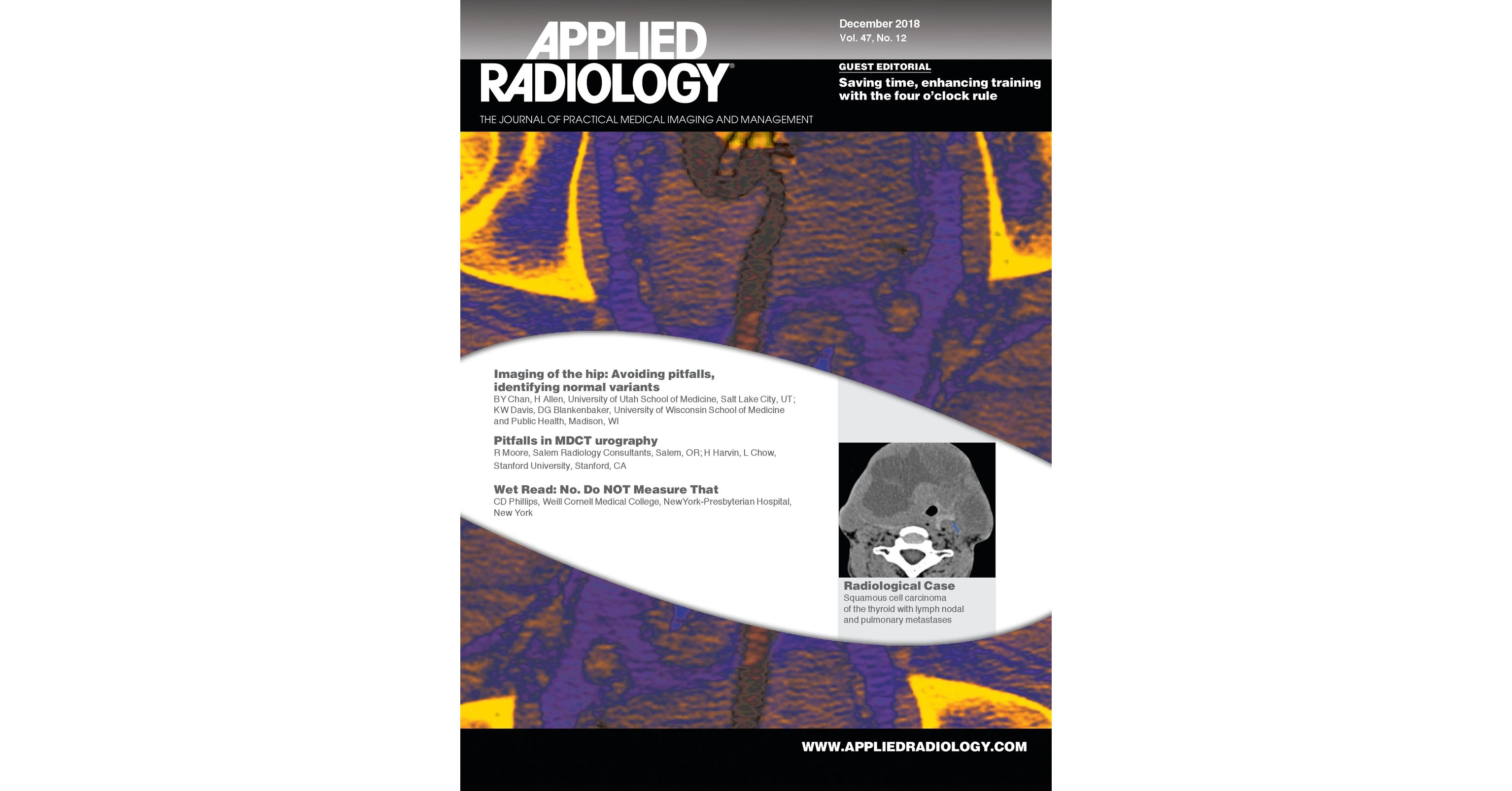 December 2018 Applied Radiology