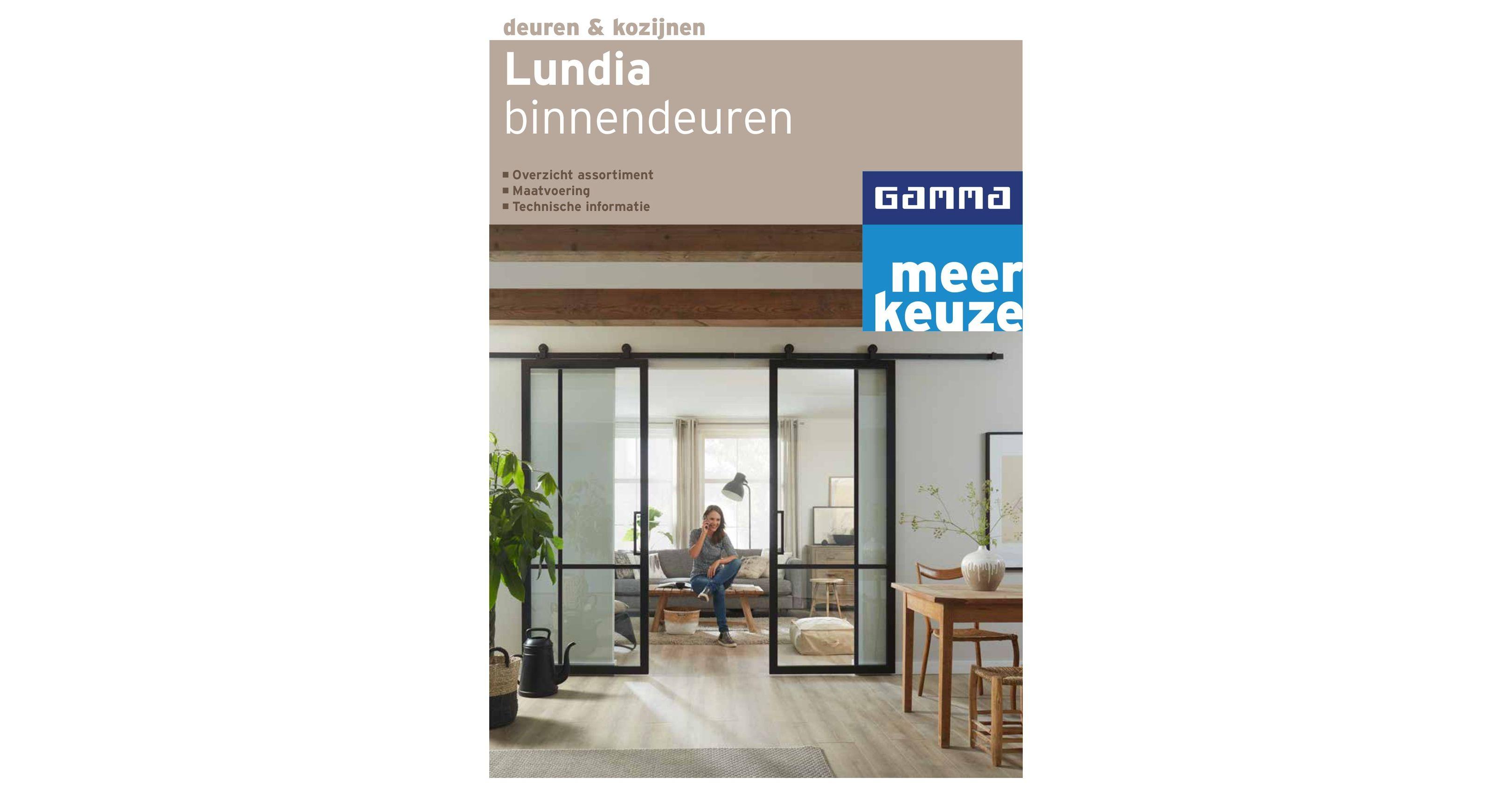 Landelijke Schuifdeuren Gamma.Lundia Gamma Binnendeuren Brochure Mei 2019
