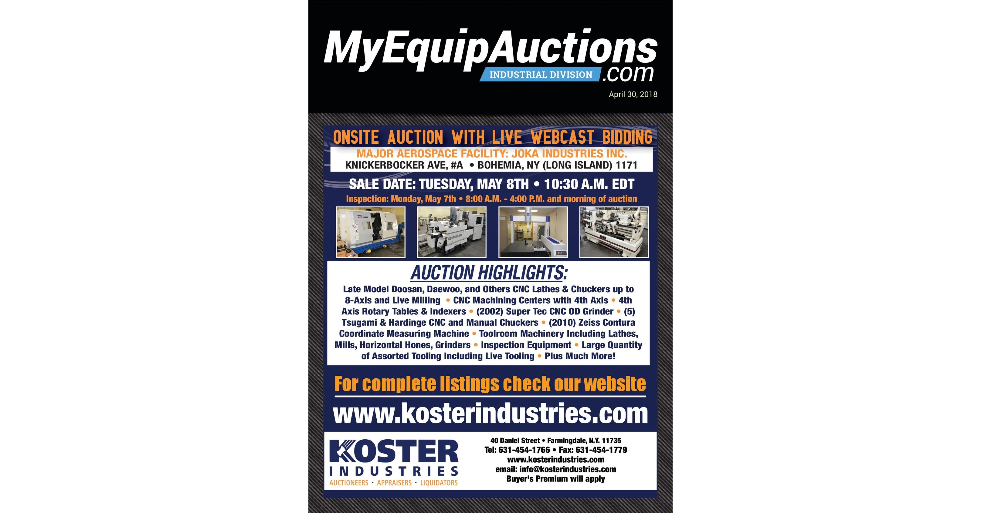 MyEquipAuctions - Industrial - 04302018