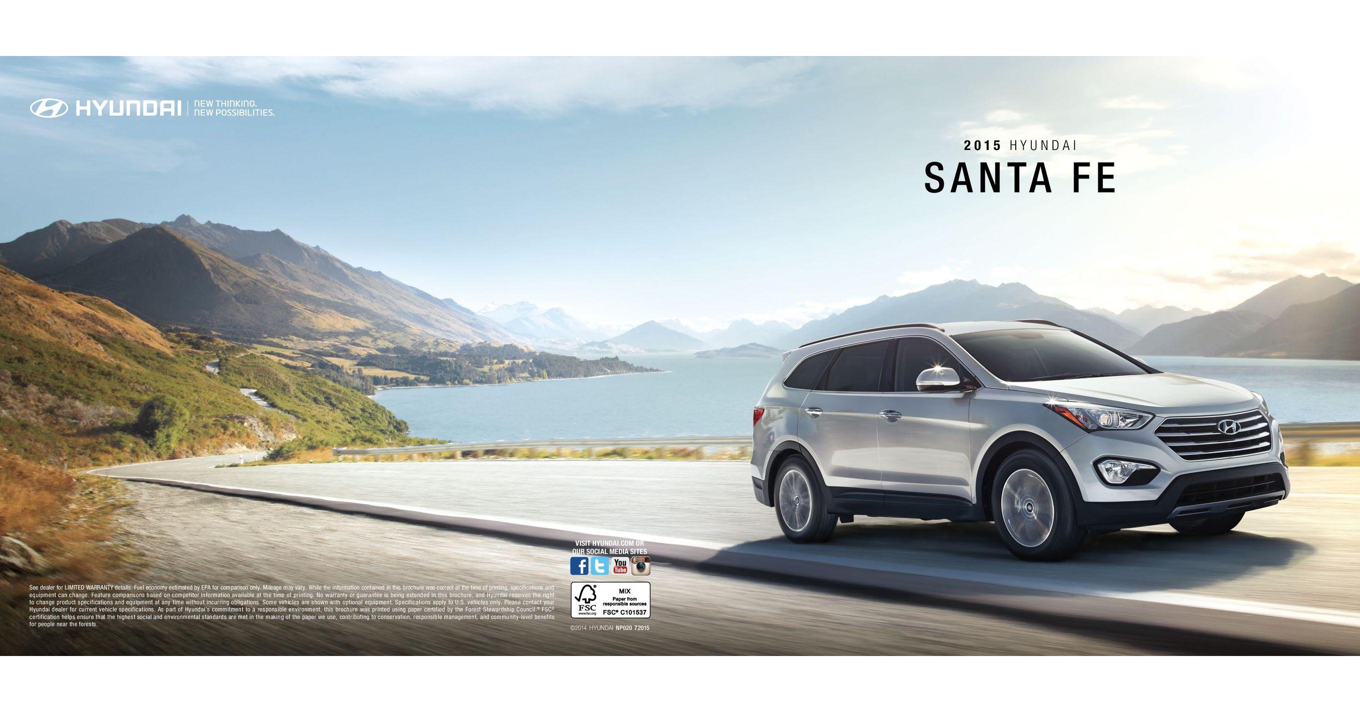 Hyundai Extended Warranty >> 2015 Hyundai Santa Fe Brochure