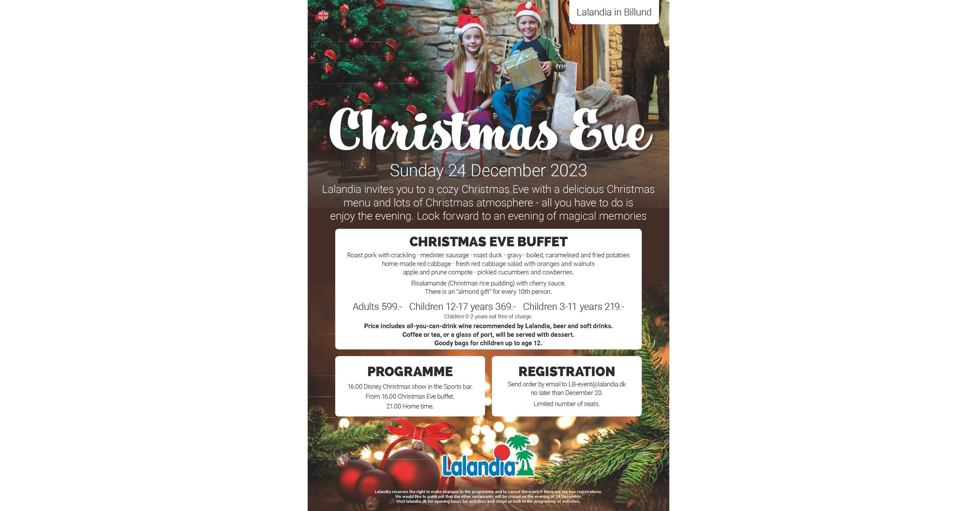 Restaurants Open On Christmas Eve 2019.Christmas Eve At Lalandia In Billund 2019