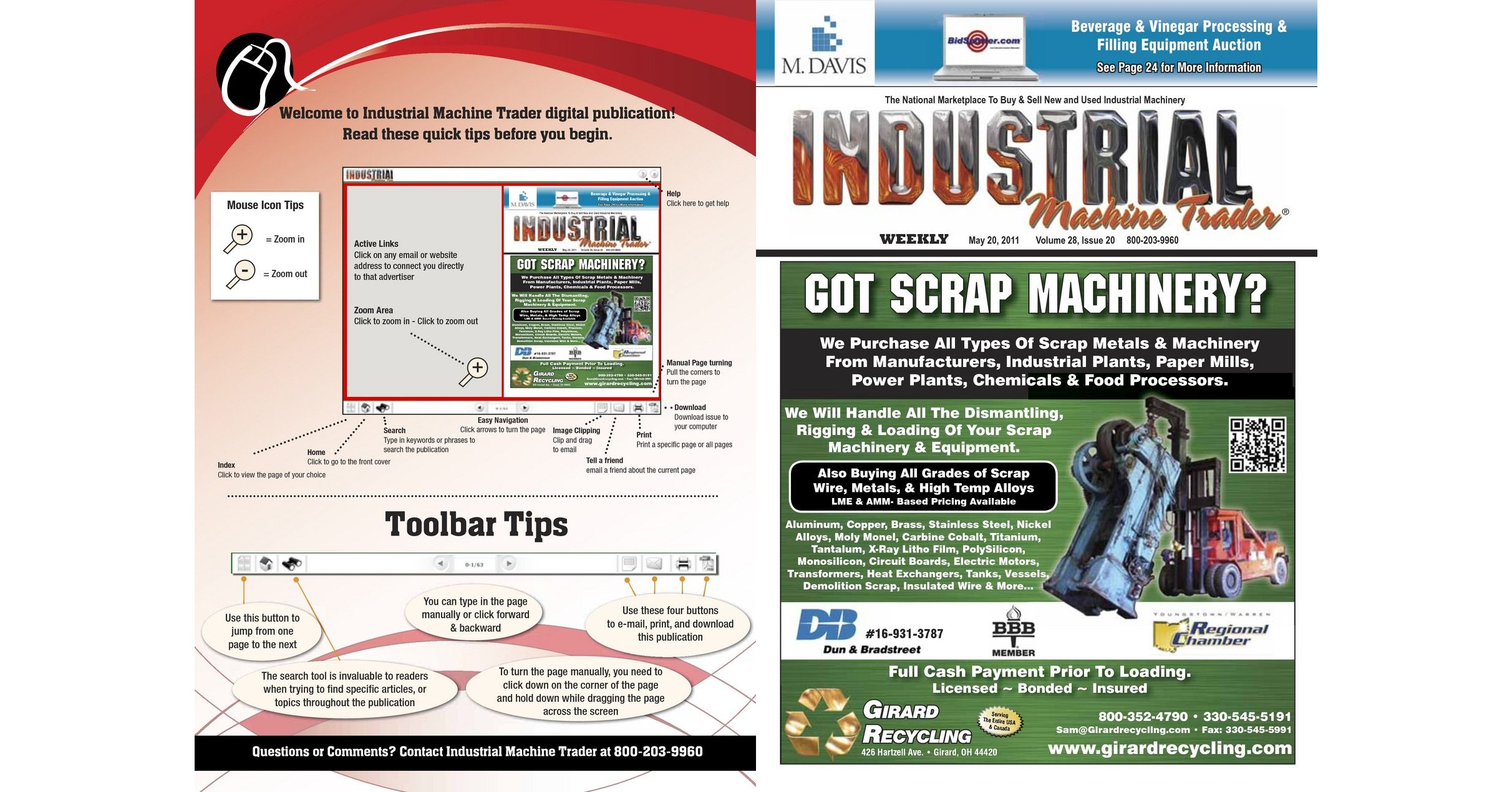 Industrial Machine Trader May 20 2011 Molded Circuit Board Recycling Equipment Buy